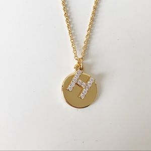 Baublebar H initial necklace NWT